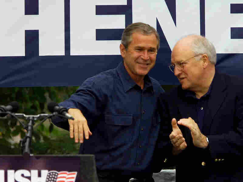 George Bush and Dick Cheney in 2000. Damian Dovarganes/AP