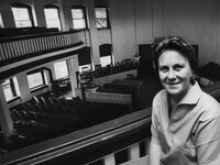 Harper Lee in a local courthouse