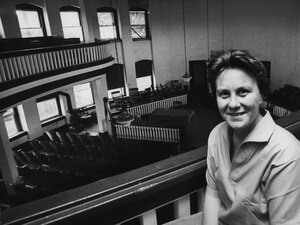 Lee, pictured in 1961 in a courthouse in her hometown of Monroeville, Ala. The author has led a very private life since her early success -- she rarely makes public appearances and declines invitations to speak. She was awarded the Presidential Medal of Freedom in 2007.