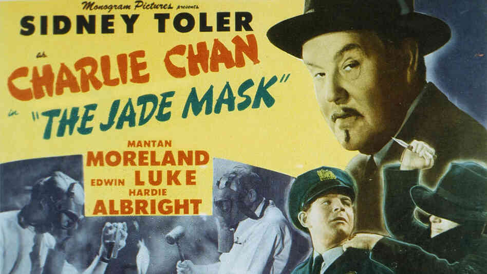 Poster for 1945 Charlie Chan film 'The Jade Mask'