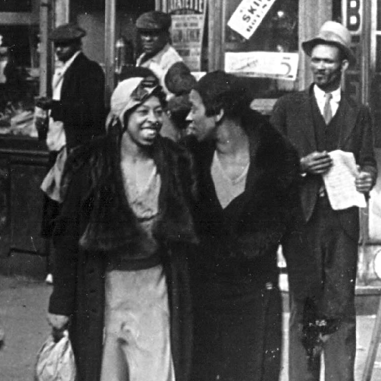 A street in Harlem in 1942