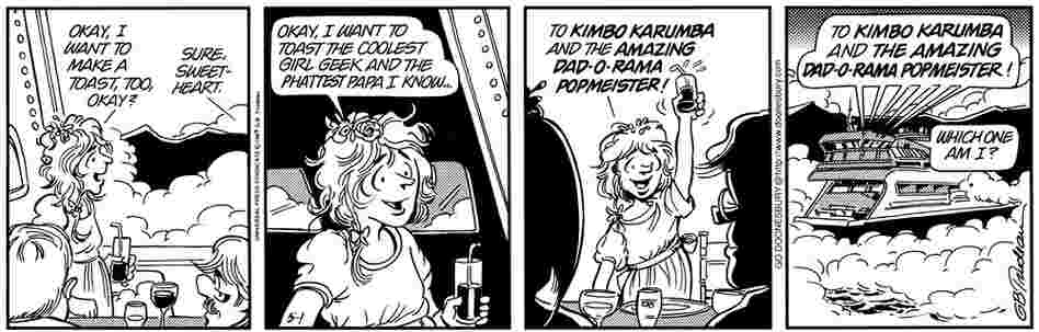 Mike Doonesbury's second marriage, to Kim Rosenthal.