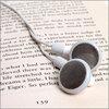 Book with headphones.