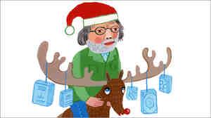 Illustration: Alan Cheuse as Santa