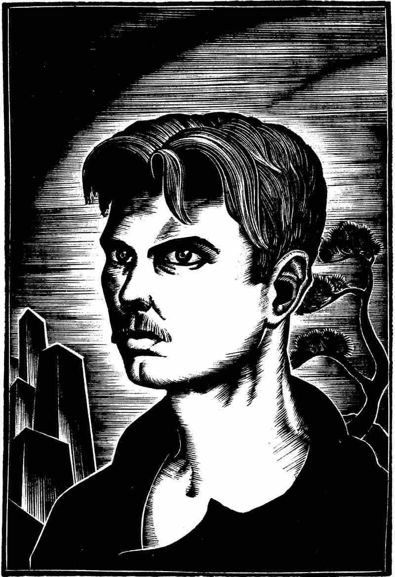 Lynd Ward's woodcut self-portrait