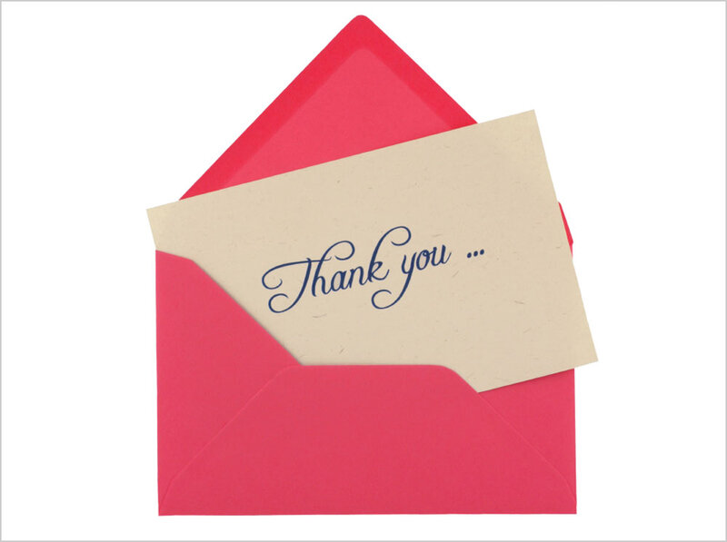 Perfect Thank You Notes  Heartfelt And Handwritten   NPR df4d97ab30