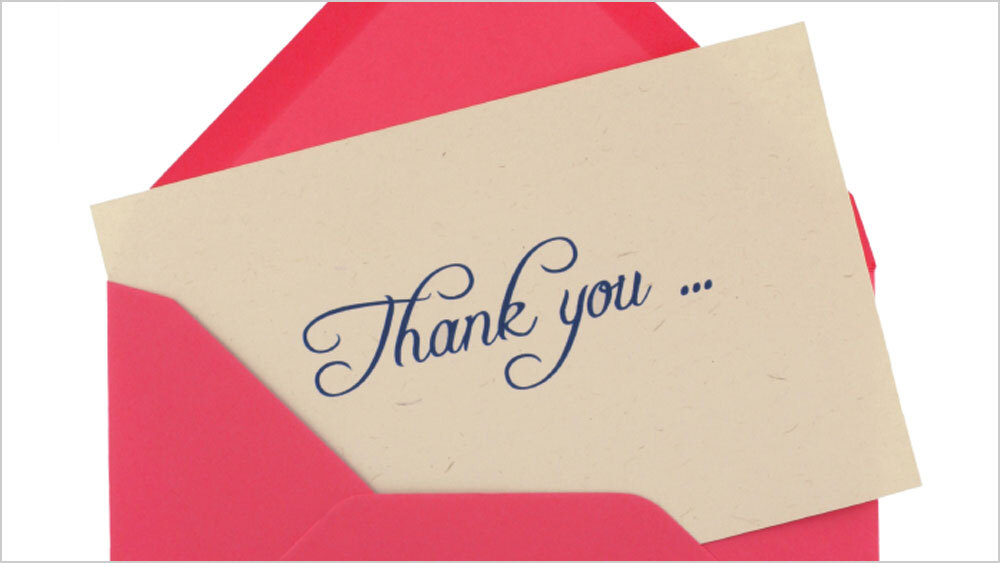 Perfect thank you notes heartfelt and handwritten npr colourmoves