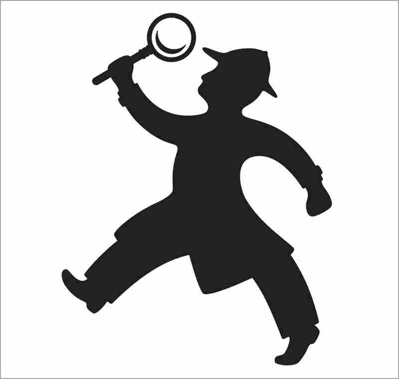Illustration of a detective.