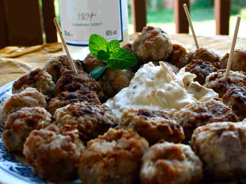 Ouzo-Spiked Pork And Beef Keftedes