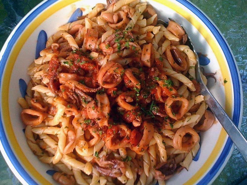 Fusilli With Calamari