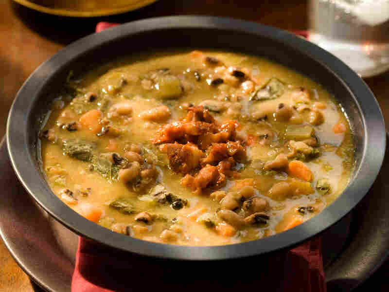 Braise of Black-Eyed Peas and Greens Soup