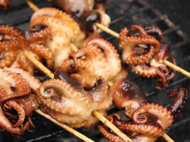 Balsamic Grilled Baby Octopus