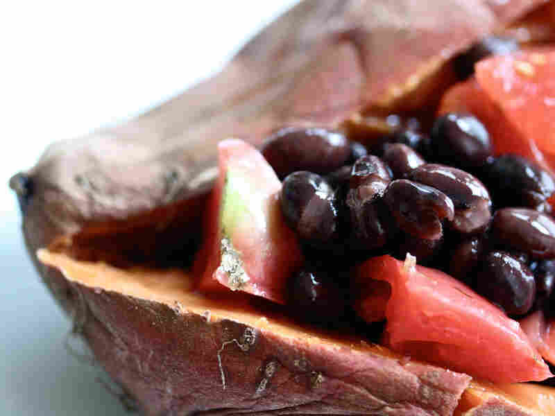 Sweet Potato With Black Beans