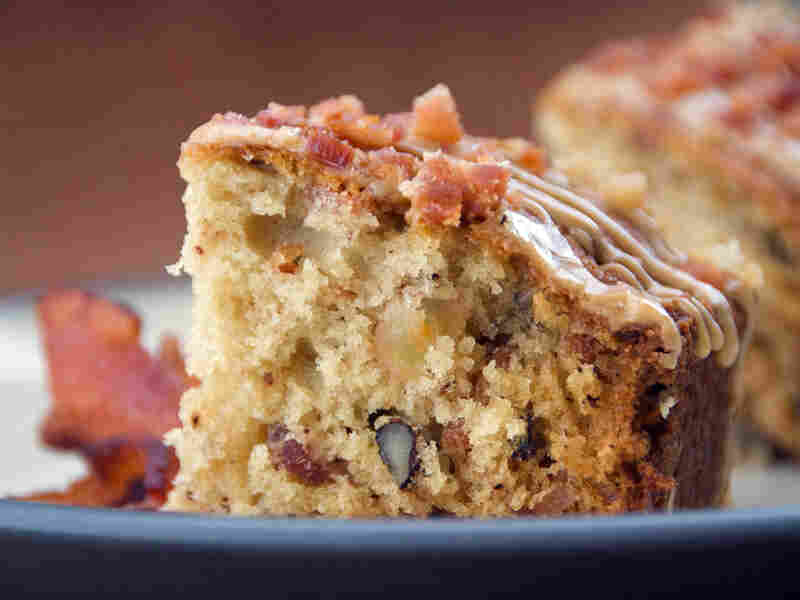 Maple-Apple-Bacon Cake With Maple Glaze