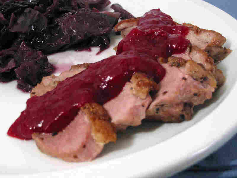 Pan-Roasted Duck Breasts With Cranberry Coulis