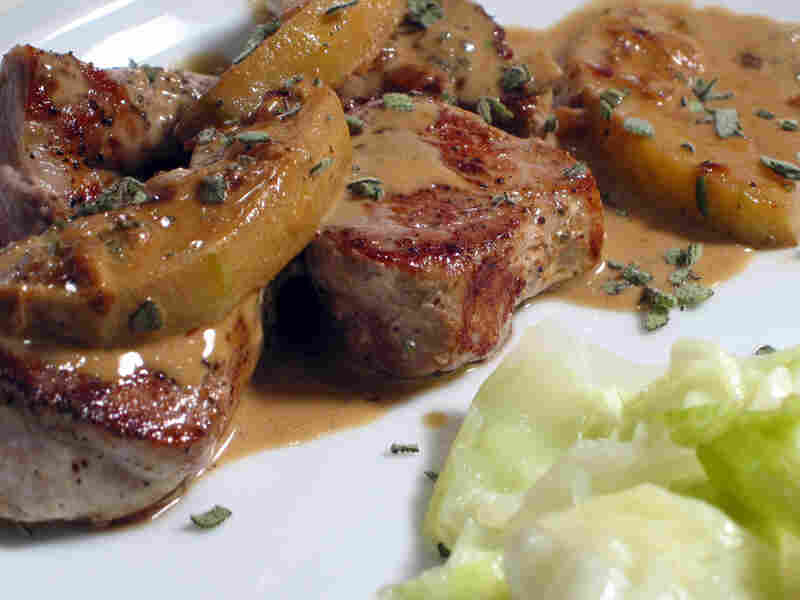 Pork Medallions In Calvados And Apple Cream Sauce