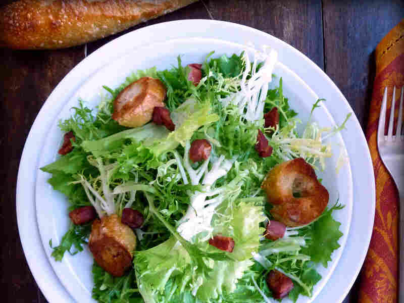 Frisee And Escarole Salad With Lardons