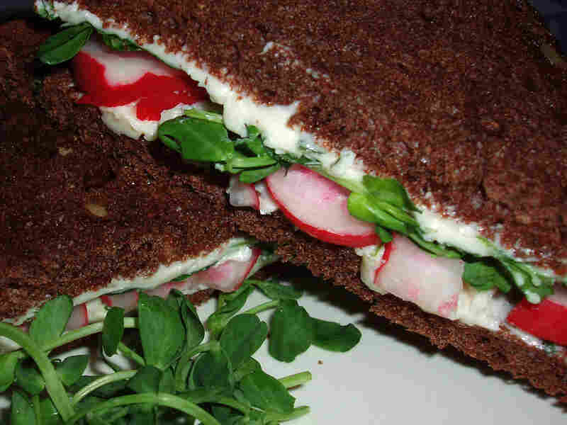 French Breakfast Radish Sandwich