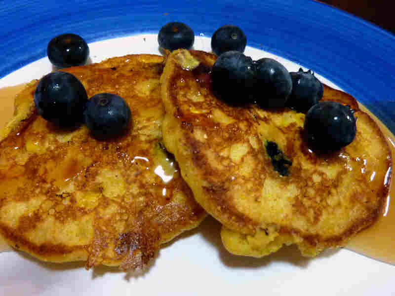 Sweet Corn And Blueberry Pancakes