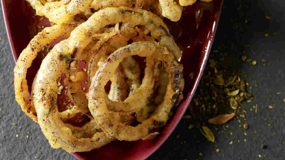 Indian Onion Rings With Chaat Masala