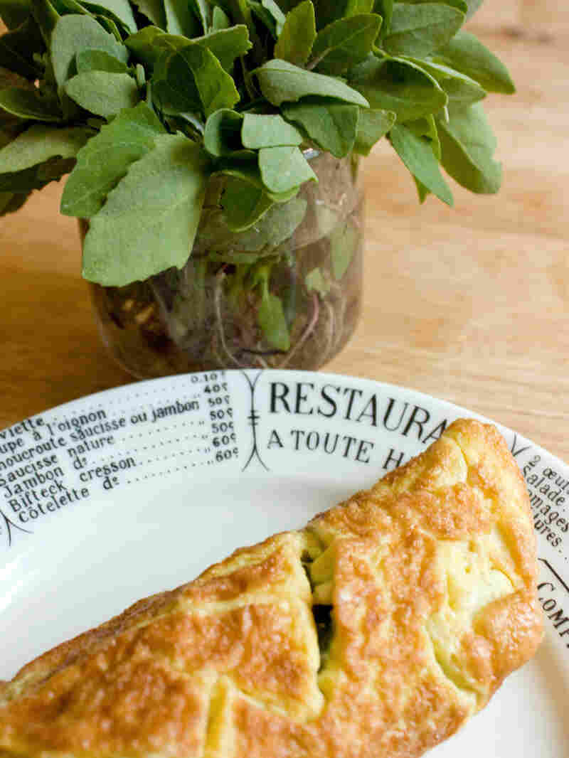 Lambsquarters And Goat Cheese Omelet