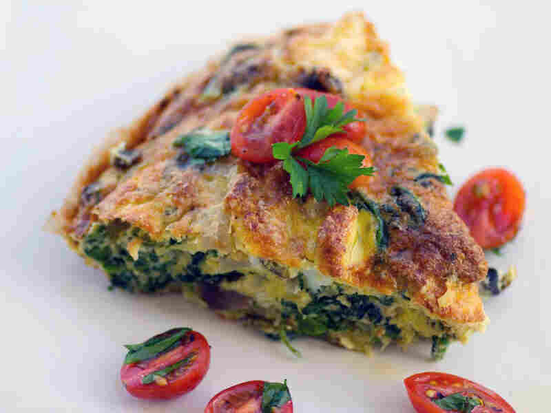 Broccoli Rabe And Mushroom Frittata With Grape Tomato Salsa