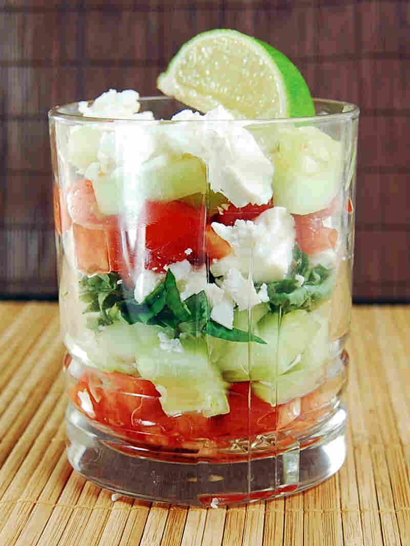 Greek Caprese Verrine