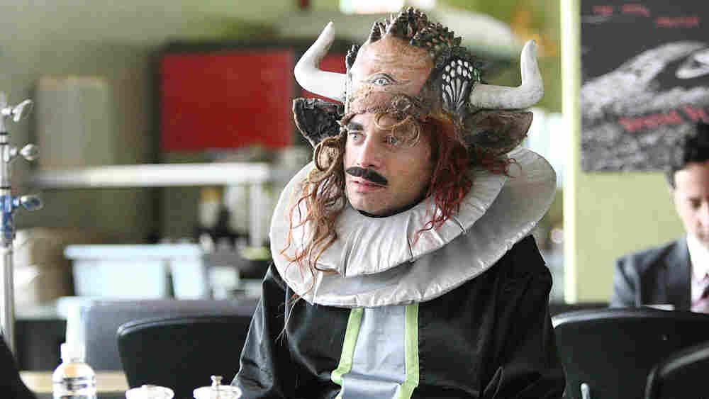 Chris Kattan as Klaptar the Space Goat in 'Bollywood Hero'