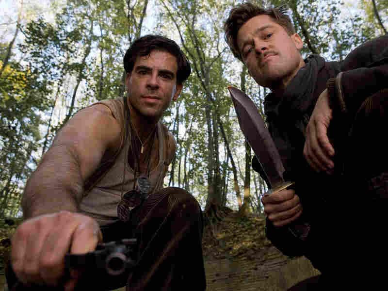 Lt. Aldo Raine (Brad Pitt) and Sgt. Donny Donowitz (Eli Roth) in 'Inglourious Basterds'