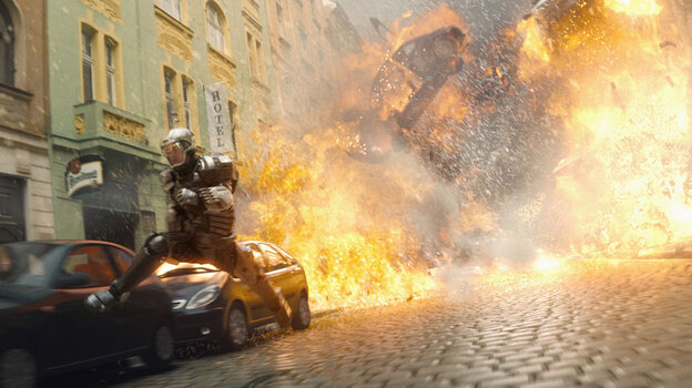 An explosion sequence from 'G.I. Joe: The Rise Of Cobra'