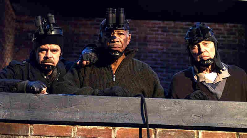 William H. Macy, Morgan Freeman and Christopher Walken in cat-burglar gear
