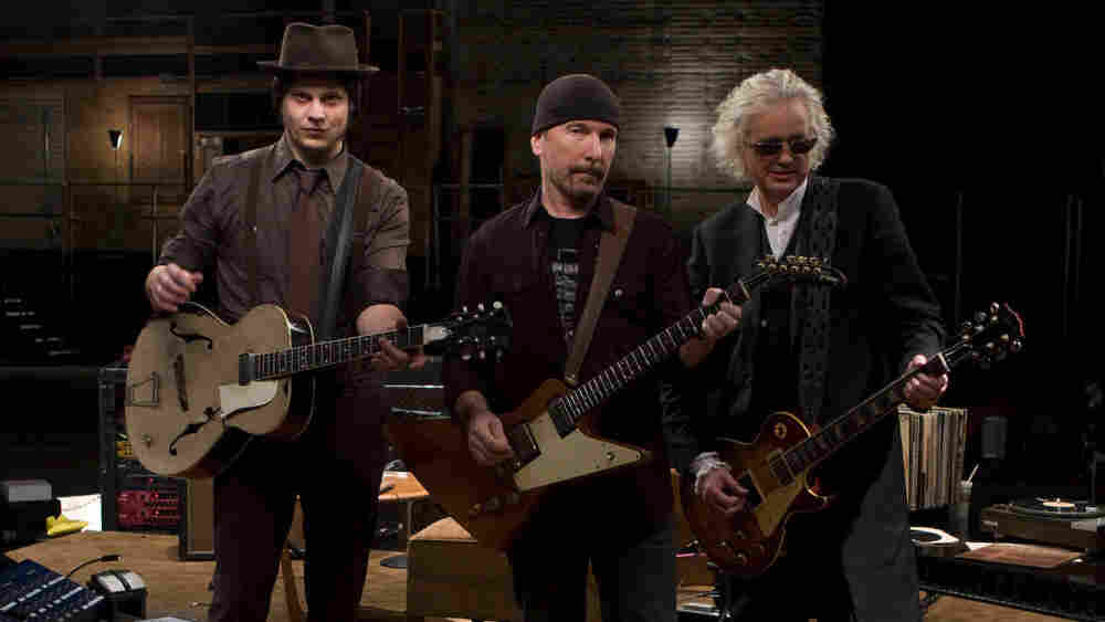 WIDE Jack White, The Edge, and Jimmy Page in 'It Might Get Loud'