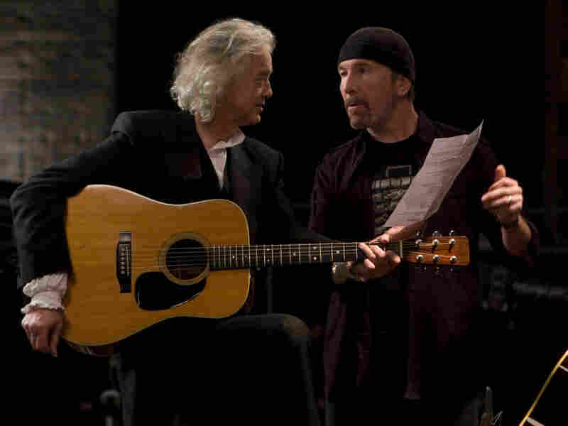 Jimmy Page and The Edge in 'It Might Get Loud'