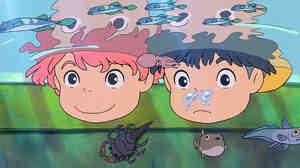 W: Ponyo and Sosuke  in 'Ponyo'