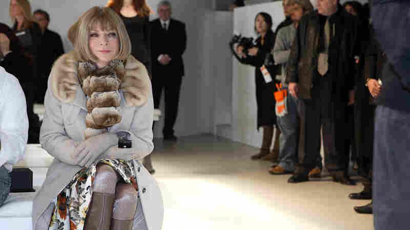 Anna Wintour at a fashion show