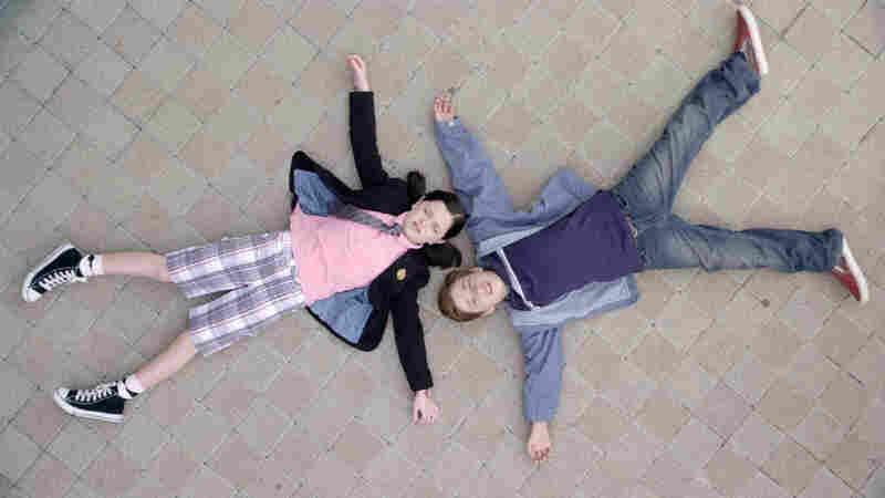 """Jolie Vanier as Helvetica Black and Jimmy Bennett as Toe Thompson in """"Shorts."""""""