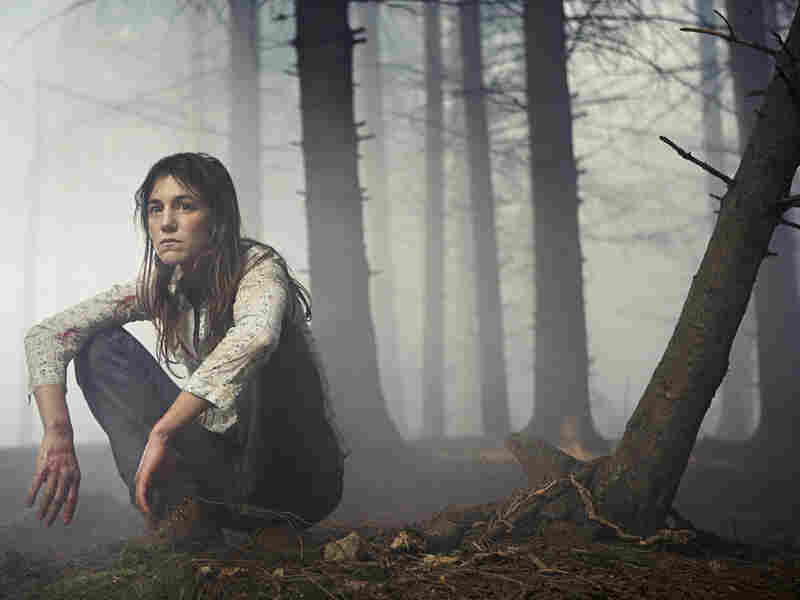 Charlotte Gainsbourg in a forest