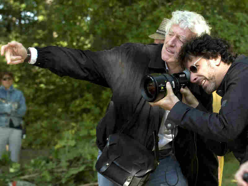 Roger Deakins and director Joel Coen on the set of 'A Serious Man'
