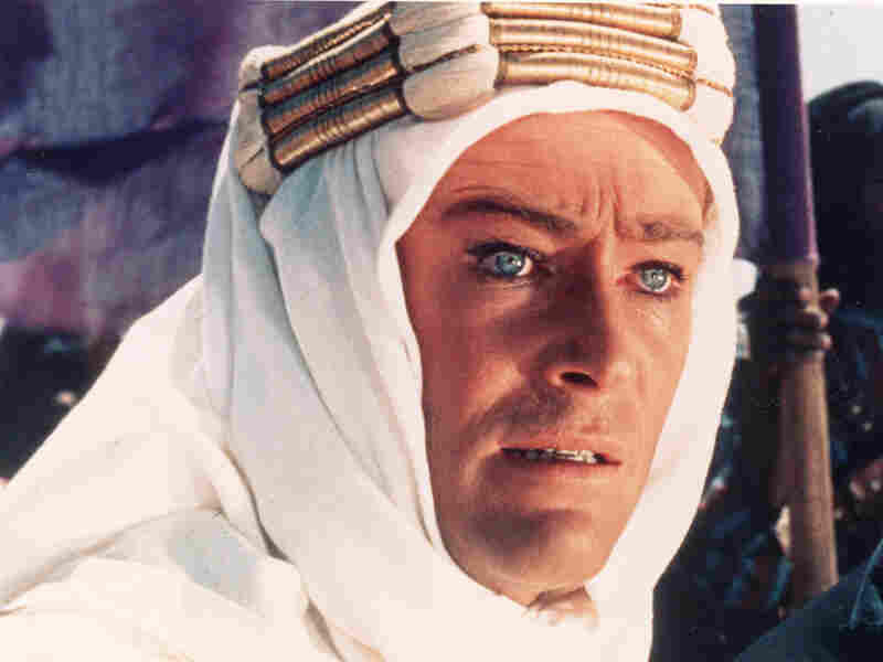 "Peter O'Toole as T.E. Lawrence in ""Lawrence of Arabia"""