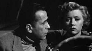 W: Humphrey Bogart (Dix) and Gloria Grahame (Laurel) in 'In A Lonely Place.'