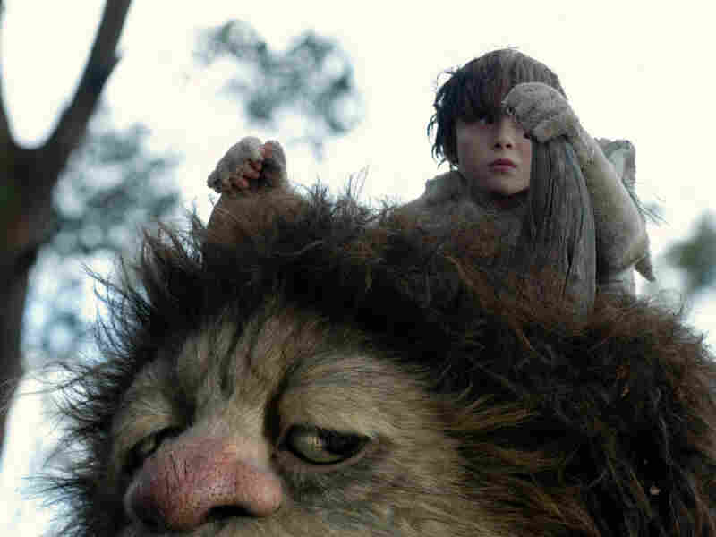 James Gandolfini and Max Records in 'Where The Wild Things Are'
