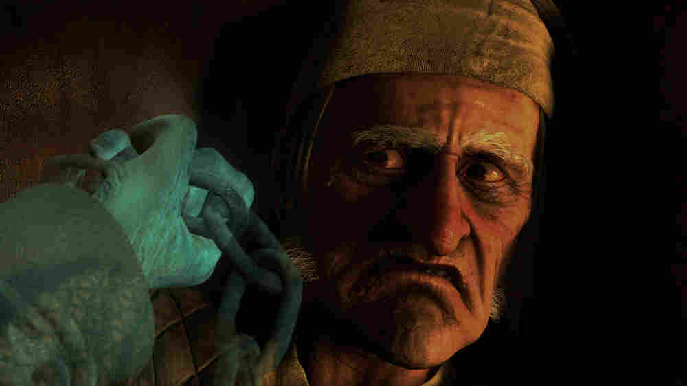 Scrooge (voiced by Jim Carrey) in 'A Christmas Carol'
