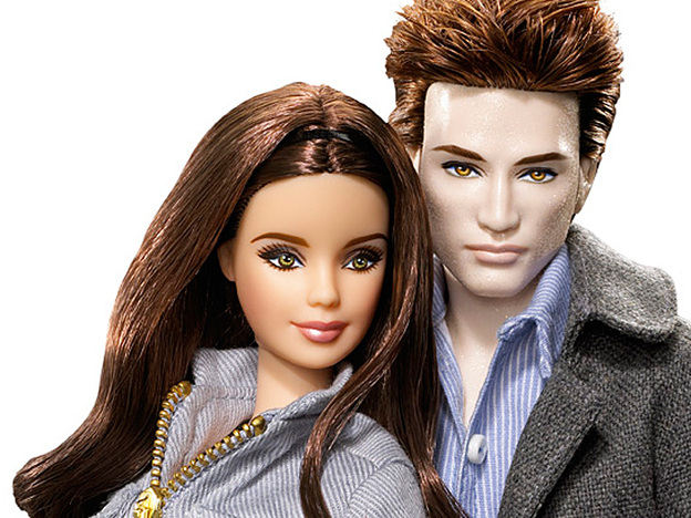 <strong> Plastic People of the Vampire-verse:</strong> Edward and his girlfriend Bella get the full Barbie treatment.