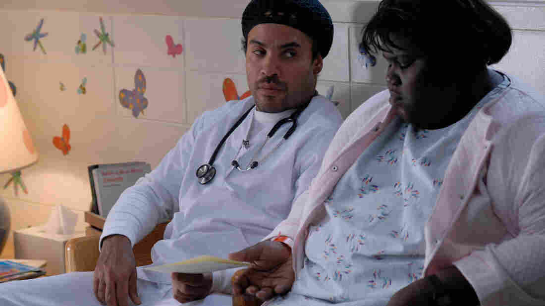 W: Lenny Kravitz and Gabourey Sidibe in 'Precious, Based on the Novel by Sapphire'