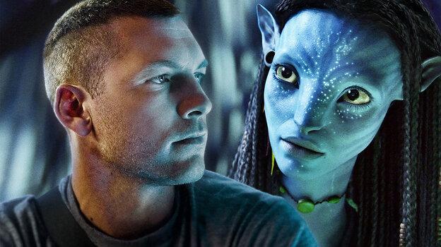 W2: Sam Worthington, Zoe Saldana  in 'Avatar'