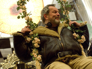 Terry Gilliam on the set of 'Dr. Parnassus'