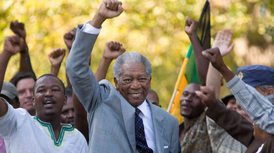 W: Morgan Freeman in 'Invictus'