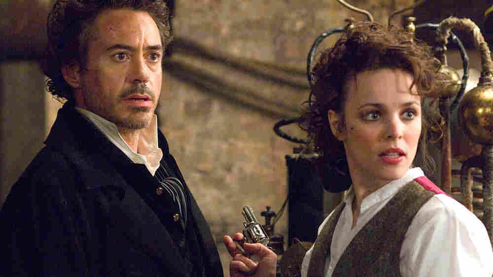 Robert Downey, Jr. and Rachel McAdams in 'Sherlock Holmes'.