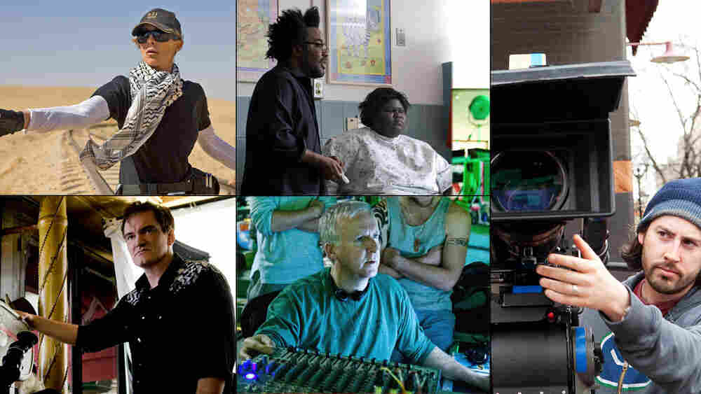 Best Director nominees Kathryn Bigelow, Lee Daniels, Jason Reitman, James Cameron, Quentin Tarantino