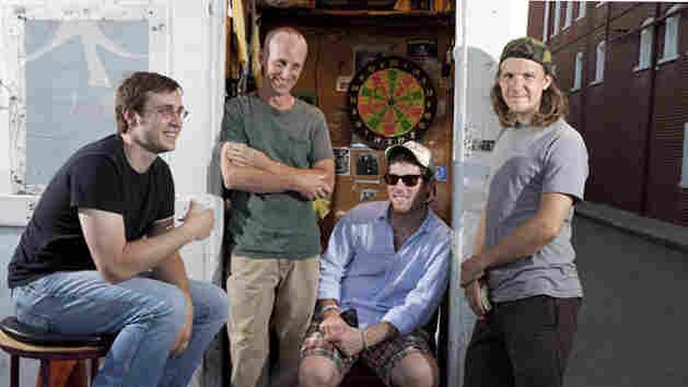 Dan Moseley, Harper Hellems, Patrick Baran and Daniel Sebring